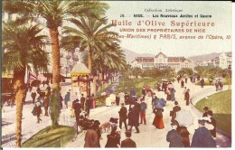 CPA  Huile D'olive Supérieure, NICE, Les Nouveaux Jardins Et Casino 1573 - Publicidad