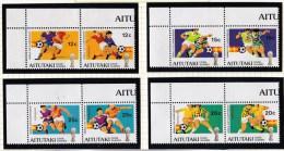 Aitutaki 1981 World Cup Football Espana 82 Set Of 8 MNH - Aitutaki