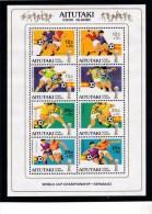 Aitutaki 1981 World Cup Football Espana 82 Minisheet MNH - Aitutaki