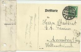 ALEMANIA CC 1924 MAT CASSEL SELLO AGUILA - Deutschland