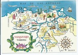 CP VENEZUELA, CARTE, AMERIQUE DU SUD - Venezuela