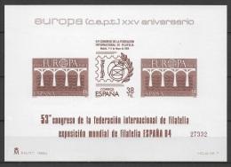 Spain (1984) Ed. Pr. 7 - Block  /  Europa CEPT Europe - 1981-90 Nuevos & Fijasellos