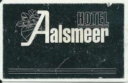 Llave Clef Hotelkarte Keycard  HOTEL AALSMEER - Hotel Labels