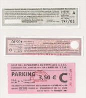 3 BONS TICKETS - Andere