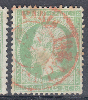 Yv 20.  CACHET IMPRIMES ROUGE PARIS /282 - Storia Postale (Francobolli Sciolti)