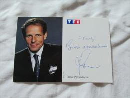 PHOTO DEDICASSE DE PATRICK POIVRE D ARVOR - Autographes