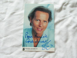 PHOTO DEDICASSE DECHRISTINE OCKRENT - Autographes