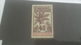 LOT 228085 TIMBRE DE COLONIE COTE IVOIR OBLITERE N�30 VALEUR 15 EUROS