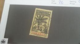 LOT 228089 TIMBRE DE COLONIE DAHOMEY OBLITERE N�26 VALEUR 14 EURS