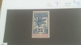 LOT 228111 TIMBRE DE COLONIE MAURITANIE NEUF* N�7 VALEUR 28 EUROS