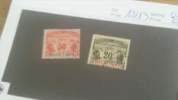 LOT 228113 TIMBRE DE COLONIE MAURITANIE OBLITERE N�12/13 VALEUR 23 EUROS