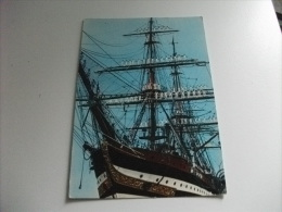 NAVE SHIP Veliero NAVE SCUOLA AMERIGO VESPUCCI MARINAI IN PARATA SUGLI ALBERI LIVORNO - Sailing Vessels