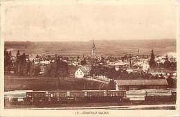 Depts Divers- Moselle - Ref  R 973 - Chateau Salins - Vue Generale Et Ligne De Chemin De Fer - Train - Trains - - Chateau Salins