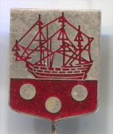 BOATS - Sailboat,  Vintage Pin, Badge, Enamel - Boten