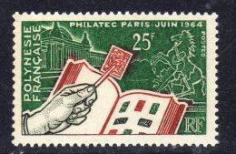 """Polynésie N° 26 X  Exposition Philatélique Internationale """"Philatec"""" à Paris Trace De Charnière Sinon TB - French Polynesia"""