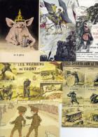 "6935 - 16 Illustrations Satiriques Et Patriotiques Guerre 1914, ""anti-boches"", Reproductions - Cartes Postales"