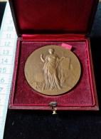 Medaille Bronze, 1910, Ministere De L´Instruction Publique, Instituteur A Guimps Charentes - Professionnels / De Société