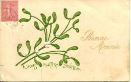 N°39782 -cpa Gaufrée (embossed Card)- Bonne Année- - Fantaisies