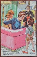 """CP N° 30301 - Les Enfants Terribles - """" Toto Tu Auras 10 Sucettes Si Tu Joues à La Grève De L'électricité """" - Ordner, P."""