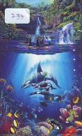 Télécarte Japon ORCA * BALEINE * WHALE (233) HAIFISCH *  PHONECARD Japan * FISH * POISSON * VIS * - Poissons