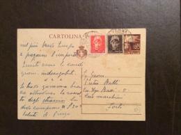 INTER0 POSTALE L.1,20  FIACCOLA CON AGGIUNTA  PER TARIFFA L.3  DA RAVENNA A FORLI´  - - 5. 1944-46 Luogotenenza & Umberto II
