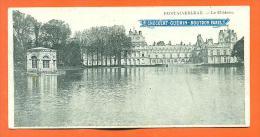 """Dpt  77  Fontainebleau  """"  Le Chateau  """"  Mini CPA 135x70 - Chocolat Guerin Boutron - Fontainebleau"""