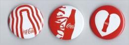 3  épinglettes COCA COLA - Coca-Cola