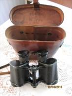 Anciennes Jumelles époque De La Guerre - Carl Zeiss Jena 6x30 - Cas, Gravée DUISBURG - W. Treu - BERN - ZOLL I-32 - Equipement