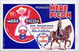 """Buvard--Fromages LA MERE PICON--Collection """"Soldats De L´Empire"""" Signé H.Morvan éd Elgé Valenciennes--pas Très Courant-- - Dairy"""