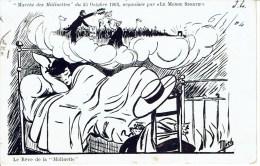 """Cpa Paris- Marche Des Midinettes- Du 25 Octobre 1903- Organisée Par """"Le Monde Sportif"""" Le Rêve De Midinette écrite Et Vo - Petits Métiers à Paris"""