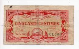 Billet Chambre De Commerce De Bordeaux - 50 Cts - Emission 1920 - Série 100 - Filigrane Abeille - Chambre De Commerce