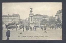 PUY DE DOME CLERMONT FERRAND Place De Jaude Et Statue Vercingétorix Tramway Petit Plan - Clermont Ferrand