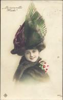 CP - Femme Art Nouveau  Artiste Théatre - Theater - Costume - Chapeau Hoed Plumeau - La Nouvelle Mode 1910 - Famous Ladies