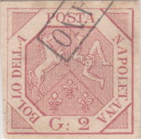 SI53D Italia Italy ANTICHI STATI Napoli 2 Grana - Stemma Delle Due Sicilie 1858 Usato - Napoli