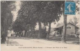 SCEY-SUR-SAONE - L'Avenue Des Pâtis Et La Gare - Sonstige Gemeinden
