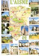 L'Aisne-Multivues-Carte Du Département-Laon-Le Nouvion-Guise-Hirson-La Fère-Vervins-Chauny-St. Quentin-Marle-St-Gobain.. - Hirson