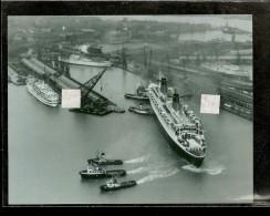 """PHOTO  Du PAQUEBOT """" FRANCE """"   Arrivé Au HAVRE  ( Compagnie Générale Transatlantique ) - Boats"""