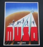 Musa Biciclette Insegna Tabella Cartone 1946 Genuine Cycle Cardboard Shop Sign - Targhe Di Cartone