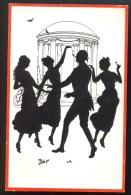 J.S. U. Co. M. Ser. 621-26 - Dancing ----- Postcard Not Traveled - Scherenschnitt - Silhouette