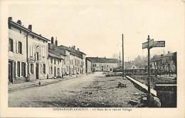 Depts Divers- Moselle - Ref  R 920 - Courcelles - Chaussy - Le Haut De La Rue Du Village - Carte Bon Etat - - Frankreich