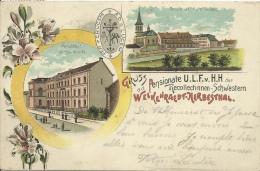 Gruss Pensionate U.L.F.v. H.H. A. D.Welkenraedt-Herbesthal -Litographie - 1906 ( Voir Verso ) - Lontzen