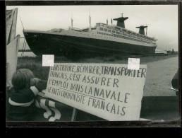 """PHOTO  Du PAQUEBOT """" FRANCE """"    ( Compagnie Générale Transatlantique ) - Boats"""