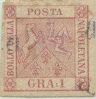 SI53D Italia Italy ANTICHI STATI Napoli 1 Grano - Stemma Delle Due Sicilie 1858 Usato - Napoli