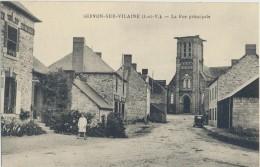 CPA 35 SERVON SUR VILAINE - Carte Rare - La Rue Principale - France