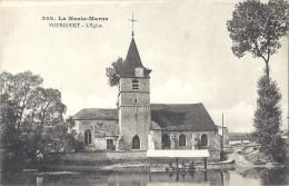 Cpa - Vouecourt - L´église ( En L´état ) - Sonstige Gemeinden