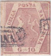 SI53D Italia Italy ANTICHI STATI Napoli 10 Grana - Stemma Delle Due Sicilie 1858 Usato - Napoli