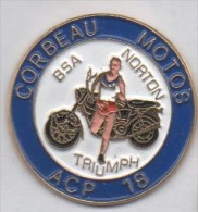 Beau Pin's , ACP 18 , Corbeau Motos , Moto BSA , Norton , Triumph , Course à Pied - Motorräder