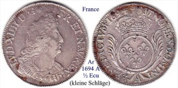 F-1694 A, ½  Ecu - 987-1789 Monnaies Royales