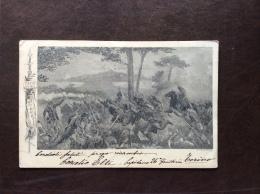 CARTOLINA MILITARE - GAETA 26 FANTERIA - VIAGGIATA  DA TORINO A VICENZA  1903 - Patriotic