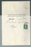 Tribunal De Commerce De LYON Greffe Avis De Répartition Faillite Syndicat Général Pour Le Maroc Monget Perouse - Vieux Papiers